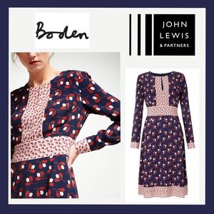 Boden Daisy Conker Dress John Lewis Exclusive Sz 6